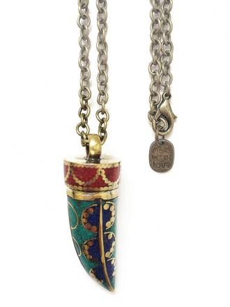 Oh!Este Handmade Accessories. Auténtico colgante de Cuerno tibetano