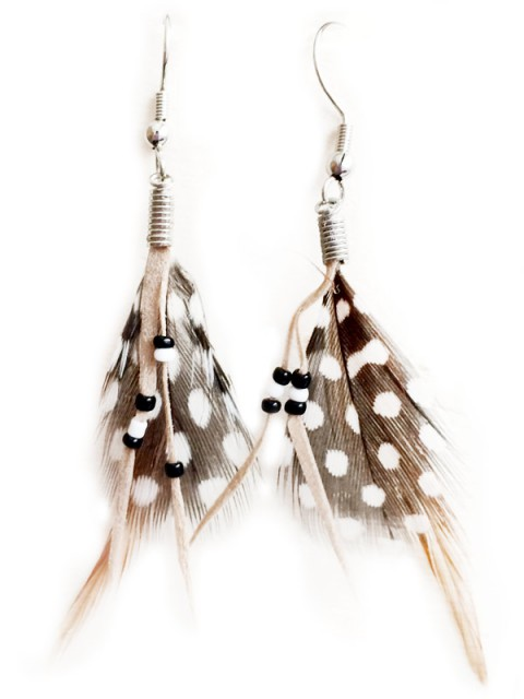 Oh!Este Handmade Accessories. Pendientes plumas INDIAN SUMMER