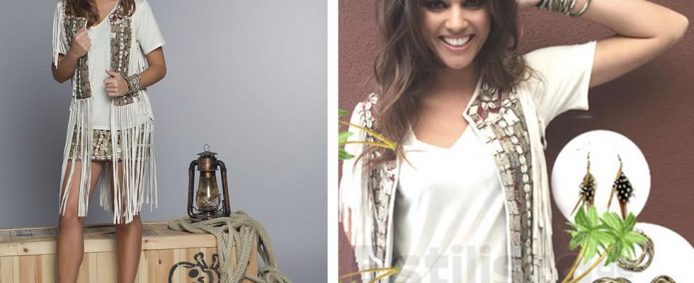 Lara Alvarez con pulseras Snake de la colección Indian Summer de Oh!Este