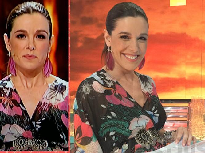 Raquel Sánchez Silva con pendientes plumas Wild Summer de Oh!Este