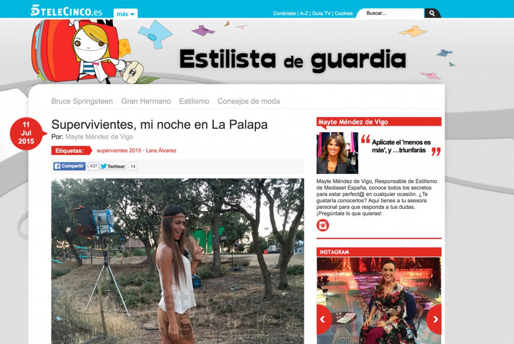 Post de Estilista de Guardia en Telecinco