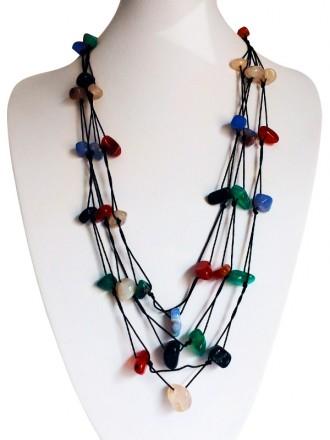 Oh! Este Handmade Accessories. Collar de ágatas de colores