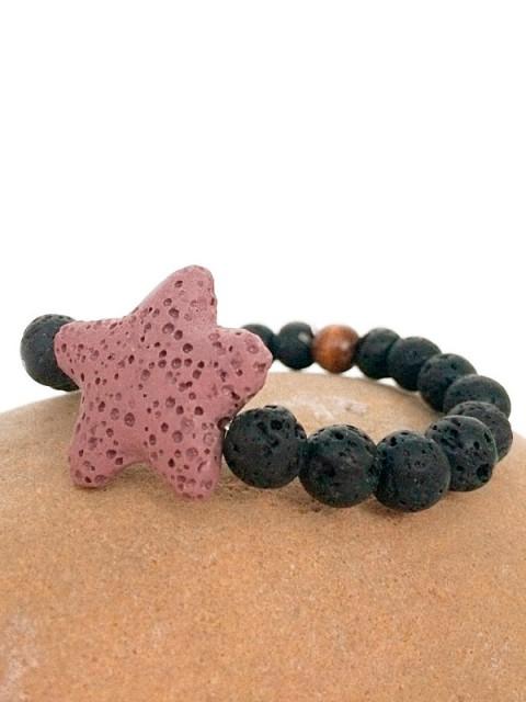 OH!Este Handmade Accessories. Pulsera Lava Star Violet