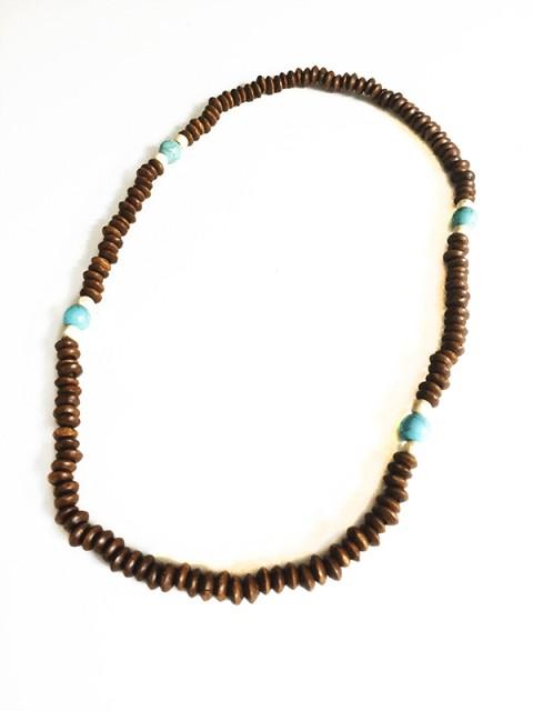 Oh!Este Handmade Accesories. Colección Oh!Boy Collar de madera y turquesas Lakota
