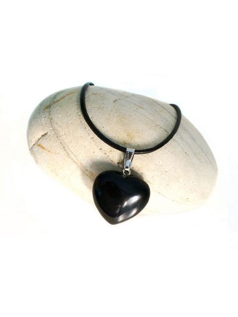 Oh!Este Handmade Accesories, colgante de ágata negra modelo Heart