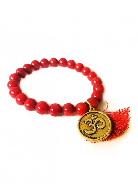 Oh!Este Handmade Accessories. Pulsera de coral rojo Ohm.