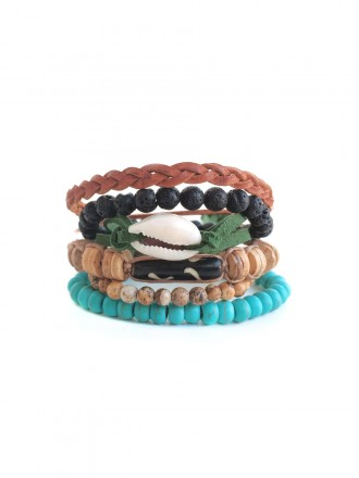Oh!Este Handmade Accessories. Pack de pulseras Indian Summer