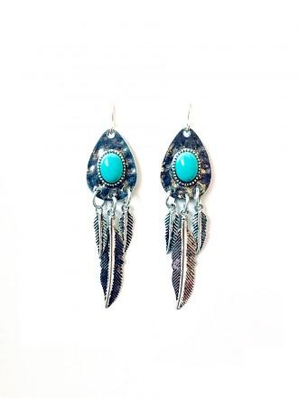 Oh!Este Handmade Accessories, pendientes Blue Feather