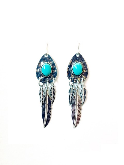 Oh!Este Handmade Accessories, pendientes Blue Feather
