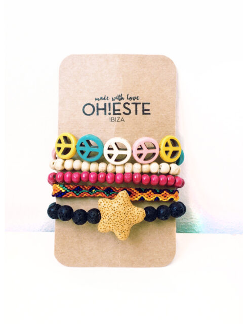 Pack de pulseras Coleccion Indian summer by Oh!Este